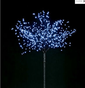 6ft OUTDOOR BLUE WHITE LED BLOSSOM TREE CHRISTMAS LED LIGHTS GARDEN DECORATION