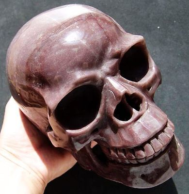 "7.0"" HUGE Purple JASPER Skeleton, Crystal Healing SKULL"