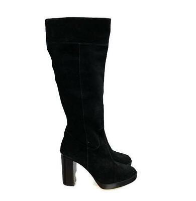 Michael Kors Women's Knee High Suede Platform Boots Riding Boots Size 9 40 Black