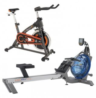 Evolution fluid Rower free spin bike save $499