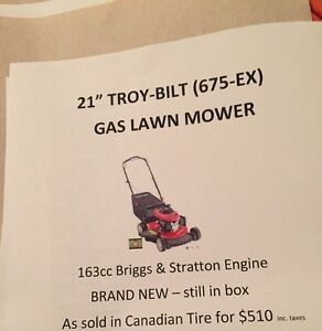 BRAND NEW TROY BILT MOWER