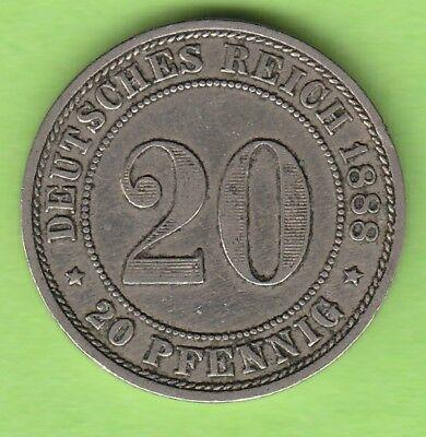 Kaiserreich 20 Pfennig 1888 E sehr schön selten nswleipzig