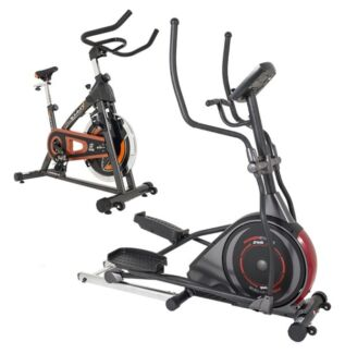 "18"" power stride elliptical with free spin bike worth $499"