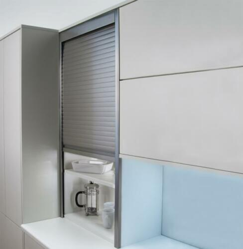 Tambour Door Kit Roller Shutter For Kitchen Unit 500/600mm Steel 1400mm High