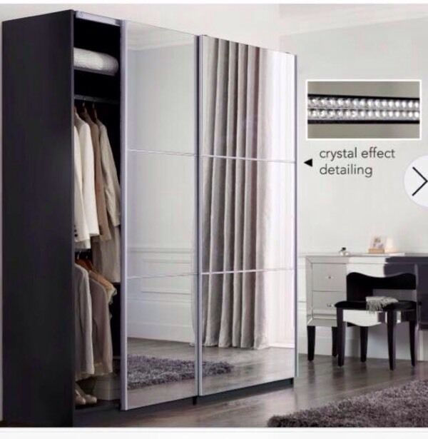 mirrored furniture next. next 2m crystal mirrored sliding wardrobe furniture next e