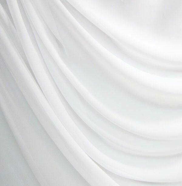 Chiffon Stoff Meterware Natur Weiß Breite ca. 280 cm