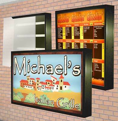 Lightbox Outdoor Illuminated With Sign Graphics Double Sided 2x4