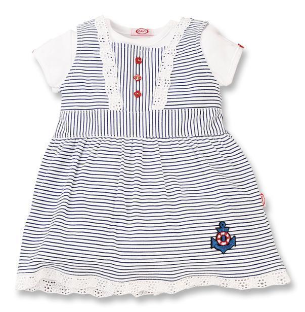 NEW Baby Girl 2 piece Stripy Dress 6-9 M DANY