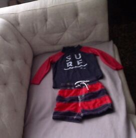 *~*~*~*~* Swimming top & shorts for a 1.5 - 2 yrs old boy, excellent condition *~*~*~*