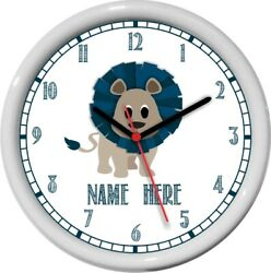 Personalized Toy Lion 1 Wall Clock Child's/Nursery Room