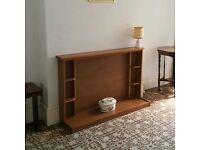Retro vintage wooden fireplace sideboard