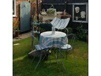 Metal garden bistro set