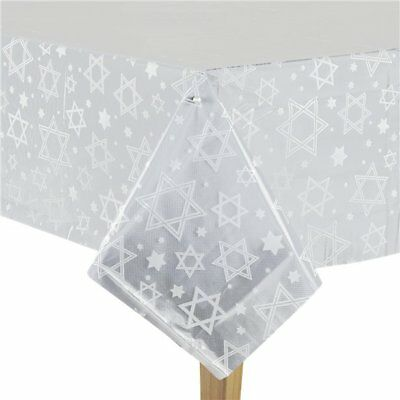 Hanukkah Party Supplies Celebration Decorations Tableware - Clear Table Cover (Hanukkah Supplies)