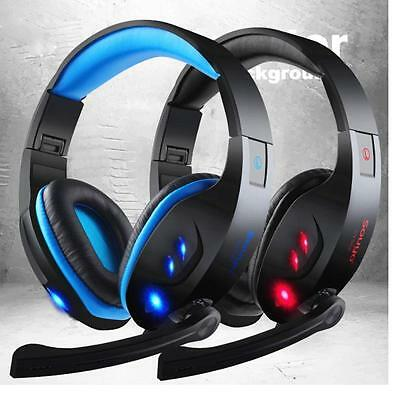NEW USB 3.5mm Surround Stereo Gaming Headset Headband Headphone with Mic for PC