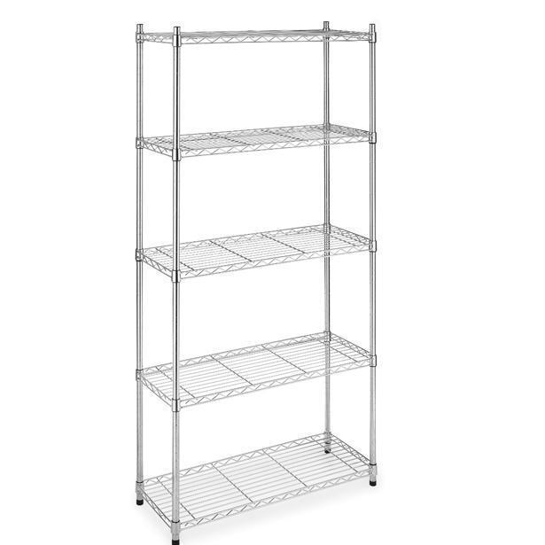 "New 5 Tier Wire Shelving Unit NSF Metal Shelf Rack 1250 LBS Capacity 14""x36""x72"""