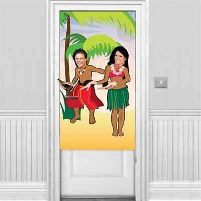 Hawaiian Luau Pictures - Hawaiian Luau Tropical Party Photo Door Scene Dancers Picture Prop Decorations