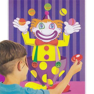 ORIGINAL PIN THE NOSE ON THE CLOWN CHILDRENS KIDS BIRTHDAY PARTY GAME 16 PLAYER - Pin The Nose On The Clown