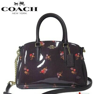 COACH  SAGE CARRYALL BABY BOUQUET PRINT Oxblood Small Satchel/Carryall.