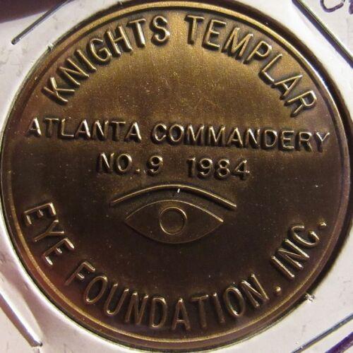 1984 Atlanta, GA Knights Templar Masonic Token Coin - Georgia