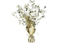 12 Gold Foil Table Centres suitable for party