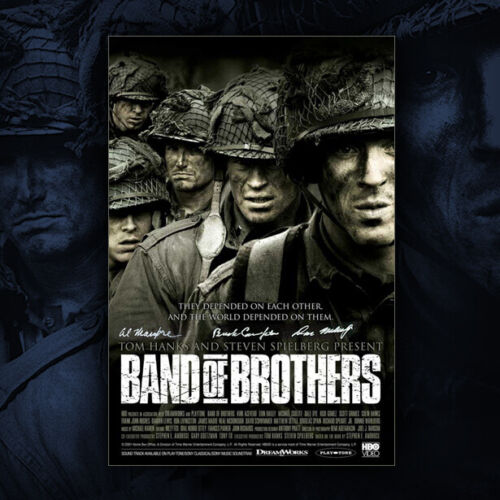 Band of Brothers Poster #1 Autographed by Buck Compton, Malarkey & Mampre!