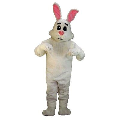 The White Rabbit Costume (Bugsy the Rabbit Professional Quality Lightweight Mascot)