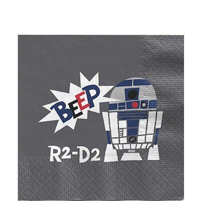Roboter Party Supplies (Official Star Wars R2 -D2 Robot Birthday Party Supplies Tableware NAPKINS x 20)