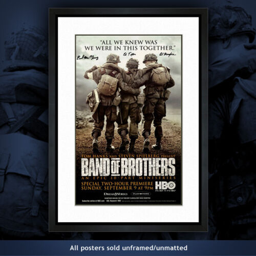 Poster #6 Band of Brothers Autographed 101st Airborne WWII paratroopers & medic
