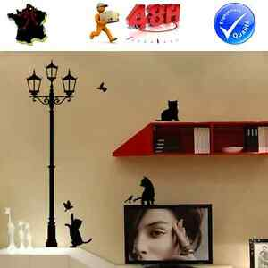 Sticker Autocollant Auto Adhesif Mural Noir Decoration