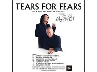 2 x FRONT ROW...TEARS for FEARS with ALISON MOYET