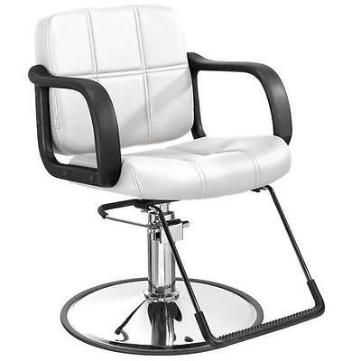 BestSalon White Hydraulic Barber Chair Styling Salon Beau...