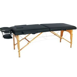 New Black PU Portable Massage Table w/Free Carry Case U1 Chair Bed Spa Facial