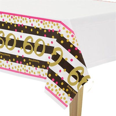60th Table Decorations (Girls 60th Birthday Party Table Decorations Supplies Tableware Table Cover )