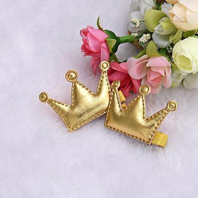 4pcs Kids Girls Baby Crown Hair Clips Hairpin Princess Hair Accessories Headwear