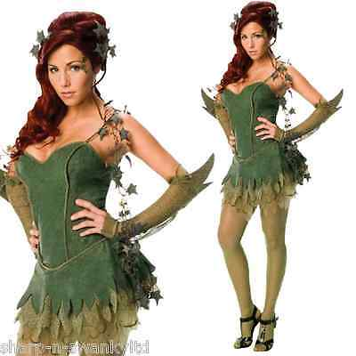 Damen Sexy Deluxe Poisen Ivy Batman Halloween Kleid Party Kostüm - Ivy Batman Kostüm