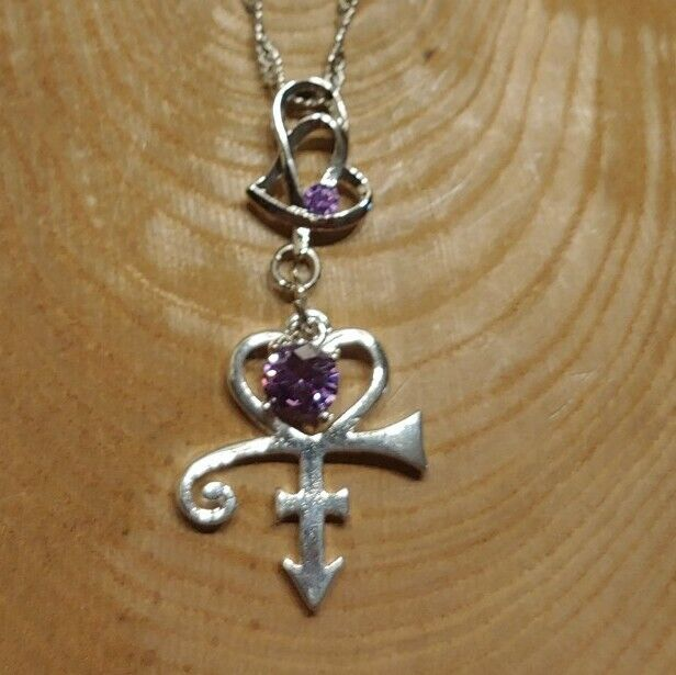 Prince Rogers Nelson Purple Rain Love Symbol Necklace