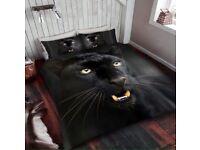 Panther print duvet set