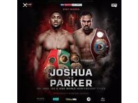 Anthony Joshua Vs Joseph Parker X 2 Tickets