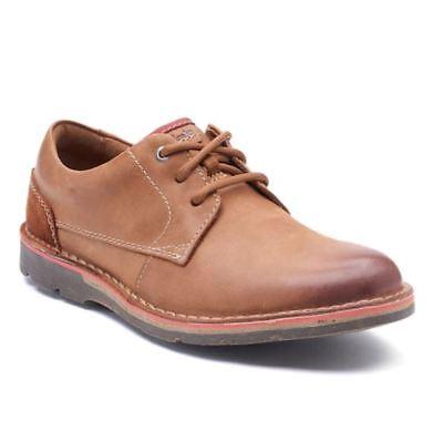 Nib Mens Clarks Edgewick Derby Boots Shoes Choose Size Tan