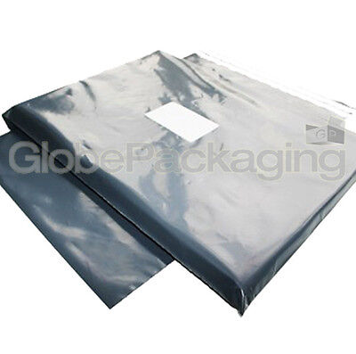 100 x STRONG GREY POSTAL POSTAGE POLY MAILING BAGS 12x14