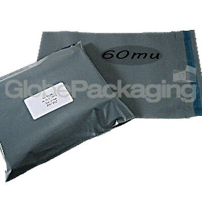 150 x Grey STRONG Postal Postage Mailing Bags 9.5