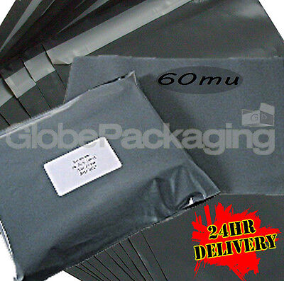 500 x STRONG Grey Postage Packing Mailing Bags 6