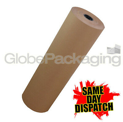 25m X 500mm Brown Kraft Wrapping Parcel Paper 88gsm