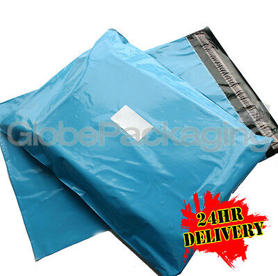 100 x Baby Blue STRONG Postal Mailing Bags - 17 x 21