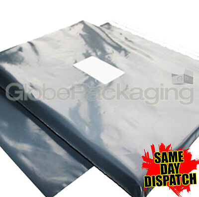 100 x STRONG GREY MAILING POSTAGE BAGS 9x12