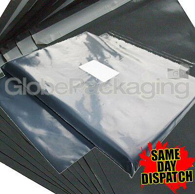 20 x STRONG GREY POSTAL MAILING BAGS 10x12