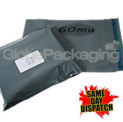 50 x Grey STRONG Postal Postage Mailing Bags 9.5