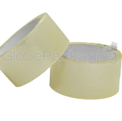 12 ROLLS OF CLEAR PACKING PARCEL TAPE 48mm x 66M (2