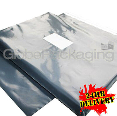 5000 x STRONG GREY POSTAL MAILING BAGS 9x12