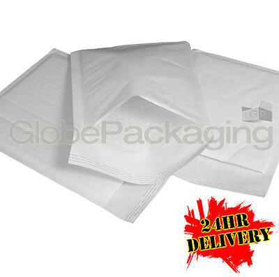 100 x G/4 WHITE PADDED BUBBLE BAGS ENVELOPES 240x320mm (EP7)
